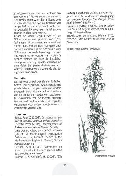 Op zoek naar herfstbloeiers. Centraal en zuid Turkije.<br /> Folium Alpinum 106, page 38 Mei 2012