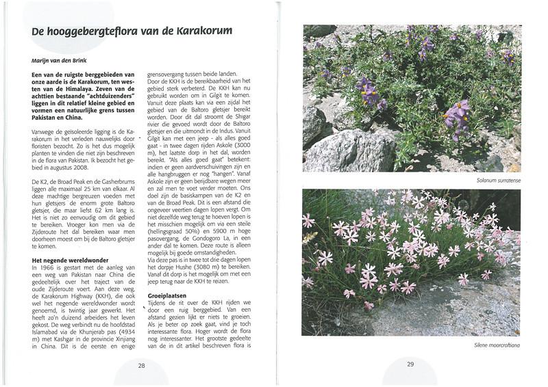 De hooggebergte flora van de Karakorum NRV Folium Alpinum 105, page 28/29 februari 2012