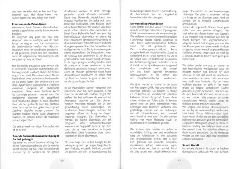 Een voorjaarsronde door Noordoost-Turkije (NRV No 98 Februari 2010) p. 40 - 41