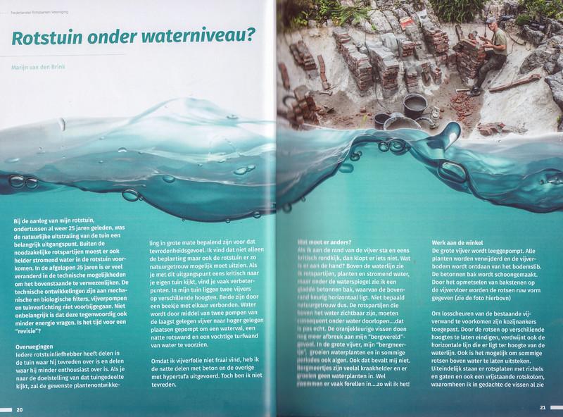 Rotstuin onder waterniveau?
