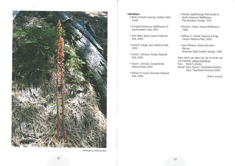 De flora en fauna van Zuidwest America. NRV. Folium Alpinum 107, Augustus 2012 pag.22-23
