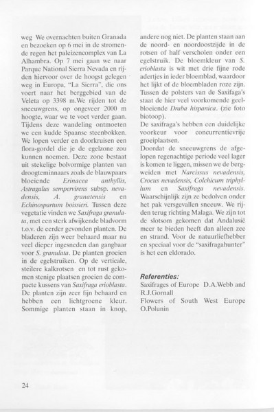 Spring flora of Andalusia Spain (NRV, No. 80, Aug 2005, p. 24)
