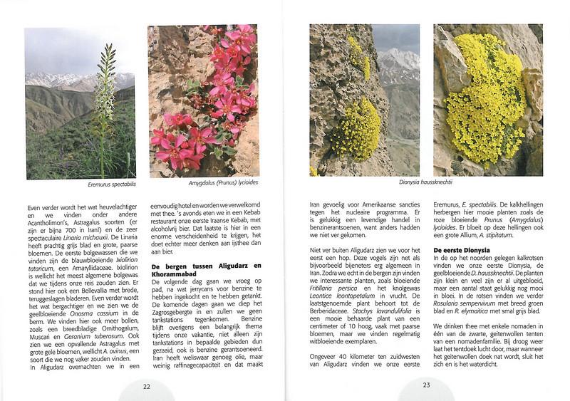 Plantenreis door Iran (NRV Folium Alpinum No. 95 May 2009 p. 22–23)