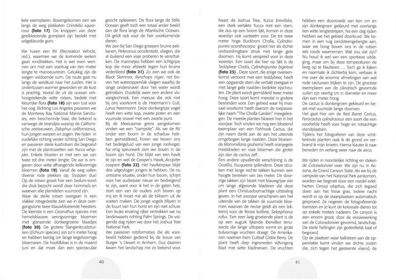De flora en fauna uit het verre westen van Amerika.<br /> Folium Alpinum  106, page 40/41 Mei 2012