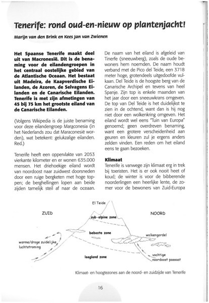 Tenerife, Christmas and Newyear planthunting  (NRV No. 94 Februari 2009 p. 16)
