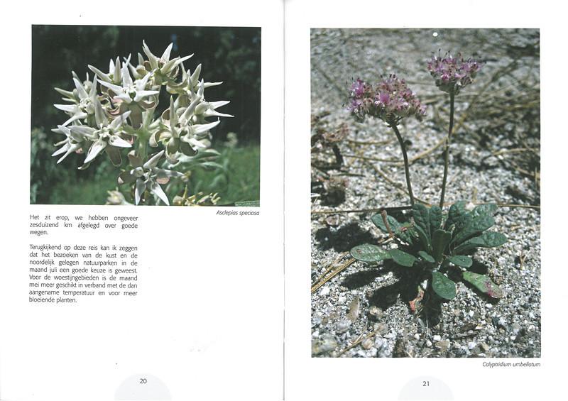 De flora en fauna van Zuidwest America. NRV. Folium Alpinum 107, Augustus 2012 pag.20-21