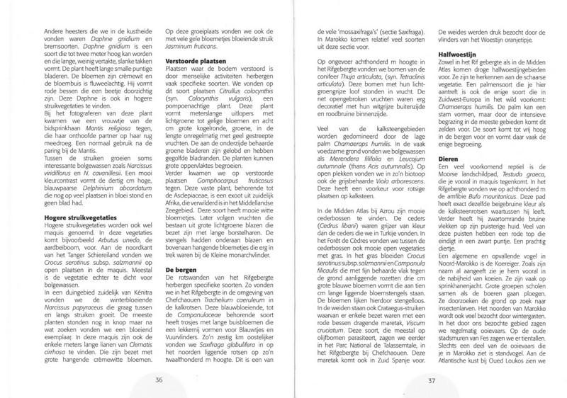 De herfstbloeiende flora van NW Marocco (Folium Alpinum 101, Februari 2011) p. 36-37