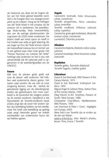 Tenerife, Christmas and Newyear planthunting  (NRV No. 94 Februari 2009 p. 33)
