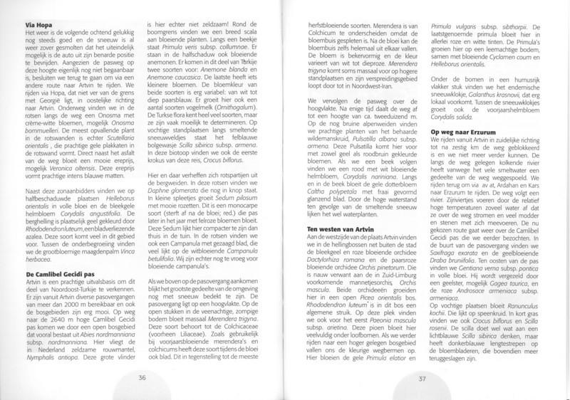 Een voorjaarsronde door Noordoost-Turkije (NRV No 98 Februari 2010) p. 36 - 37