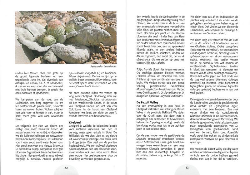 Plantenreis door Iran (NRV Folium Alpinum No. 95 May 2009 p. 32–33)