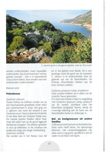 Autumn in Southwest Turkey (NRV No. 93 November 2008 p. 23)