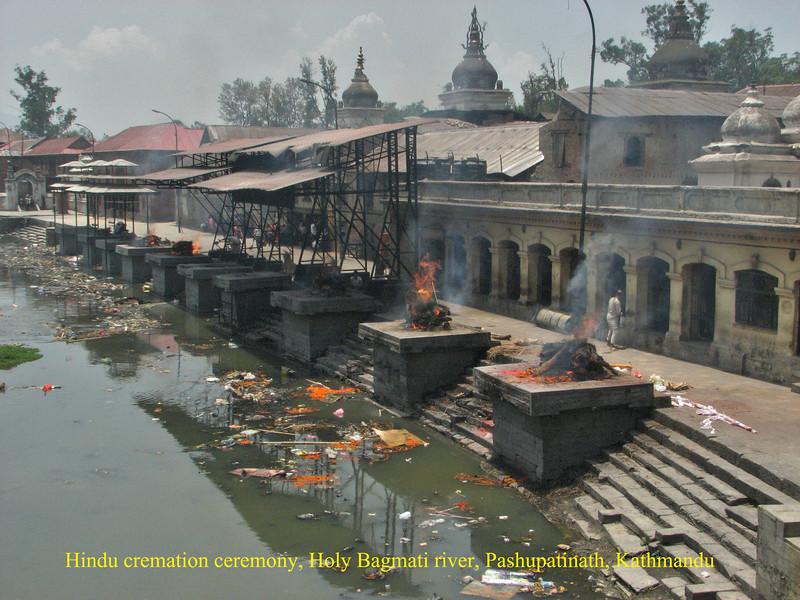 Hindu cremation ceremony, Holy Bagmati river, Pashupatinath, Kathmandu
