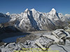View on a lake of Lhotse Shar Glacier, Peak Base Camp 5000m-Island Peak summit 6160m