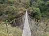 Suspension bridge, Pangkom 2850m-Najing 2600m