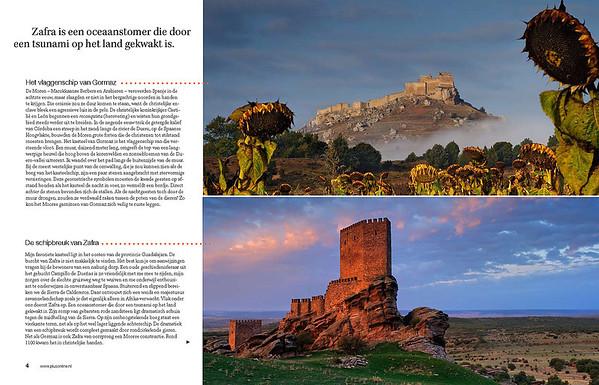 Second spread. Top: Gormaz Castle. Below: Zafra Castle.