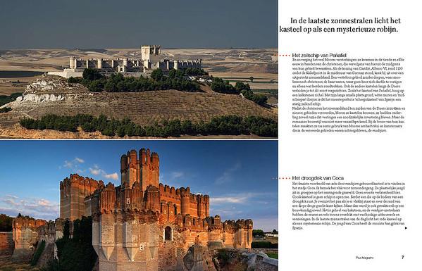 Third spread. Top: Peñafiel Castle. Below: Coca Castle.