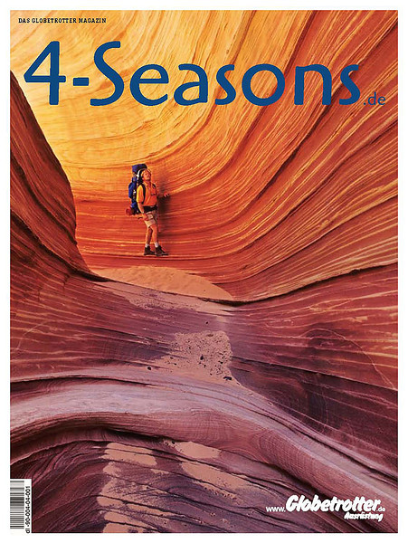 The cover photo isn't ours but taken by James Kay. The  picture we took on exactly the same spot didn't show a backpack, which is too bad for a magazine of an outdoor gear shop.
