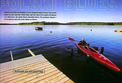 KANU MAGAZIN (Germany): Kayaking in the Land of the Stork (kayaking feature)