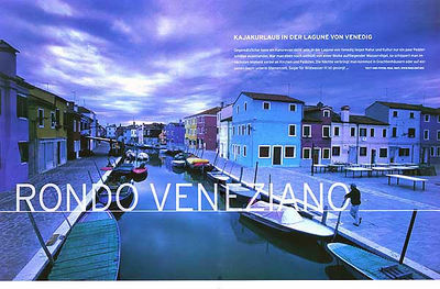 KANU MAGAZIN (Germany): Kayaking in the Lagoon of Venice (kayaking feature)