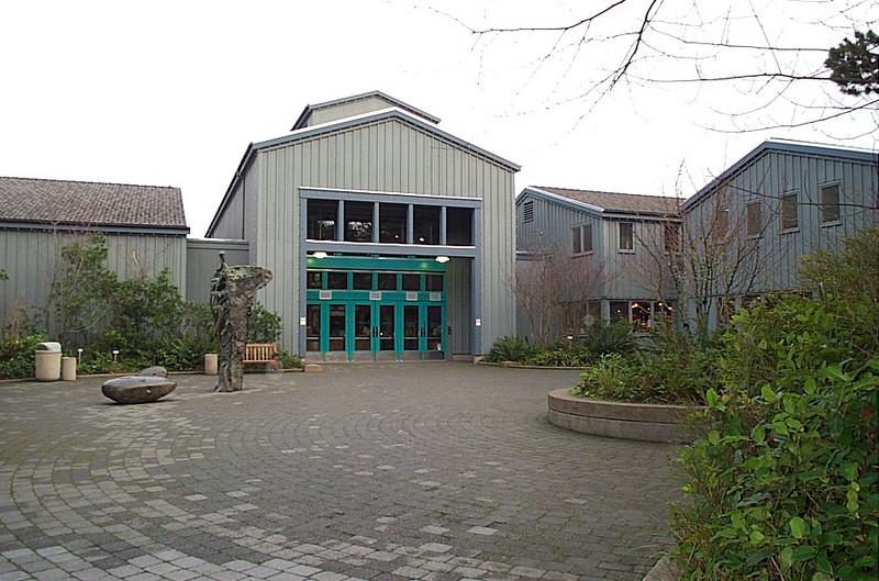 Entrance to the Oregon Coast Aquarium