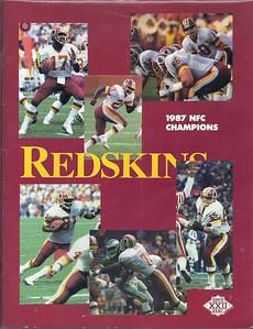 1988 Super Bowl XXII NFC Champions Redskins Media Booklet