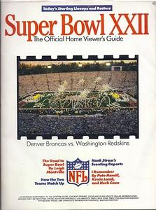 1992 Super Bowl XXII Home Viewer's Guide