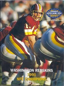 1992 Super Bowl XXVI NFC Champions Redskins Media Booklet