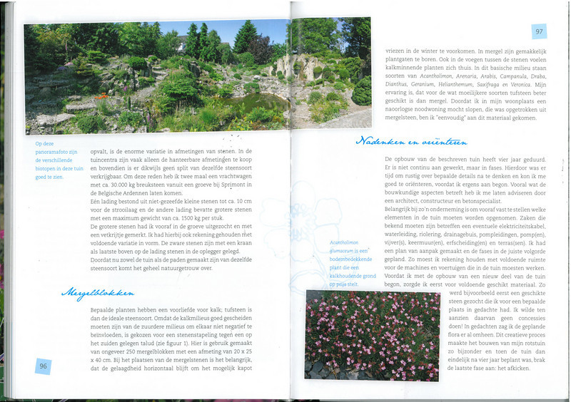 page 96-97, of the 25 years N.R.V. anniversary book: Manual for the Rockgarden N.R.V. (NL: Handboek voor de Rotstuin 2010)