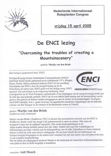 nrv conferentie de ENCI - lezing (nrv conferentieNL.0 2005)