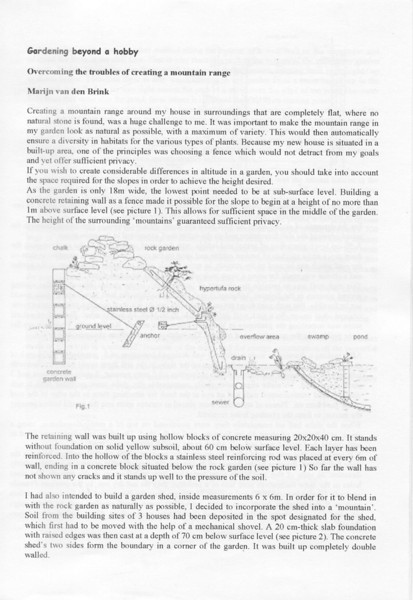 Dutch International Rock Garden Conference of Alpine Plants 17 April 2005 (pag.2 Proceedings in English language)
