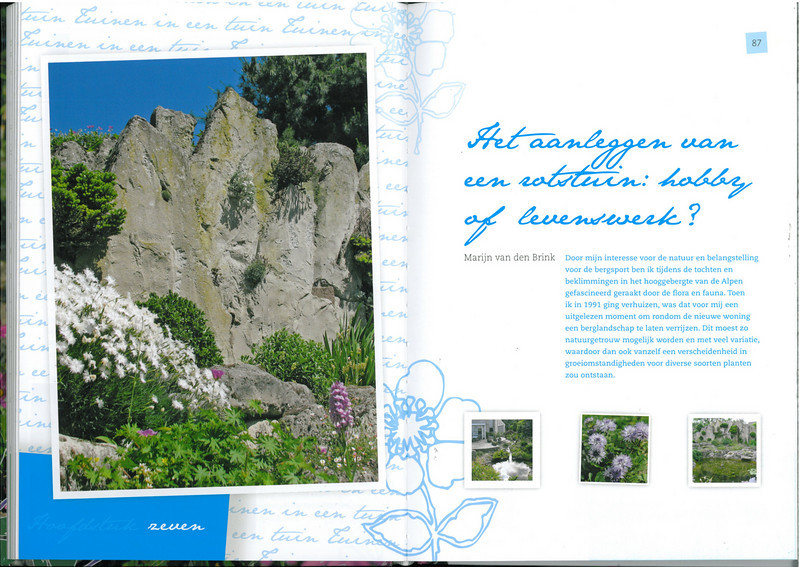 page 86-87, of the 25 years N.R.V. anniversary book: Manual for the Rockgarden N.R.V. (NL: Handboek voor de Rotstuin 2010)