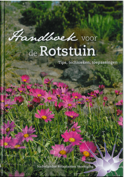 Frontcover, 25 years N.R.V. anniversary book: Manual for the Rockgarden N.R.V. (NL: Handboek voor de Rotstuin 2010)