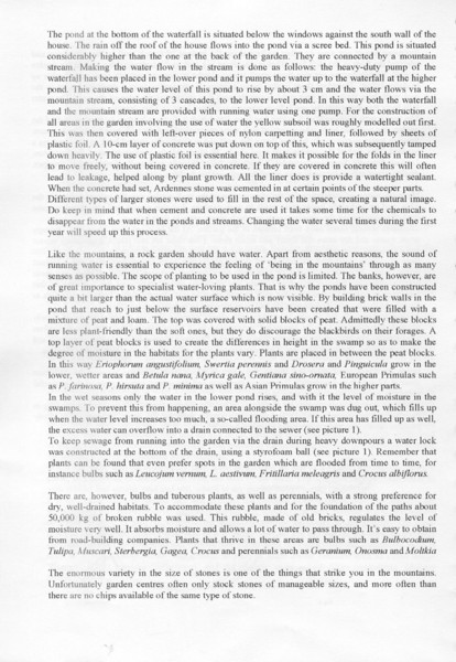 Dutch International Rock Garden Conference of Alpine Plants 17 April 2005 (pag.5 Proceedings in English language)