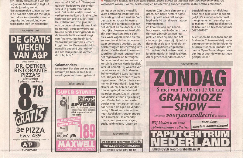 tuinwedstrijd2001-2 (news paper article: Garden competition, page 2)