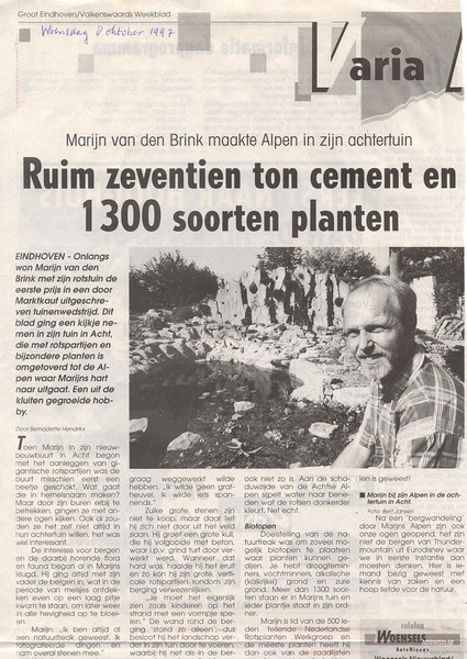 grooteindhoven8.10.97 (news paper article, page 1)