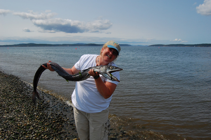 Longnose Lancetfish :) and me. Not telling you which one is which.