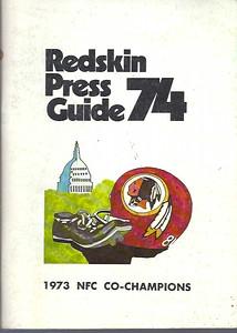 1974 Redskins Press Guide