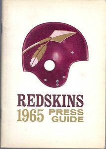 1965 Redskins Press Guide
