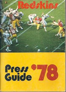 1978 Redskins Press Guide
