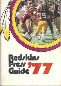 1977 Redskins Press Guide