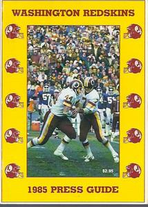 1985 Redskins Press Guide