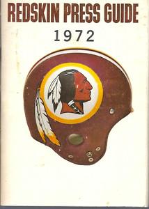 1972 Redskins Press Guide