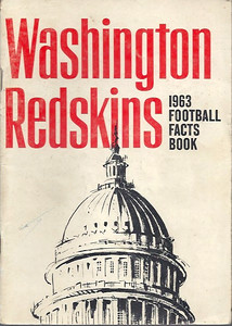 1963 Redskins Press Guide