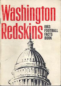 1963 Redskins Press Guide