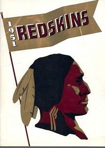 1951 Redskins Press Guide