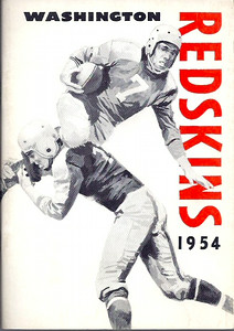 1954 Redskins Press Guide