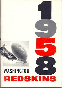 1958 Redskins Press Guide