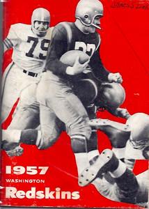 1957 Redskins Press Guide