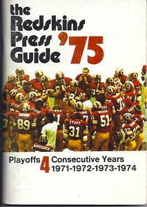 1975 Redskins Press Guide