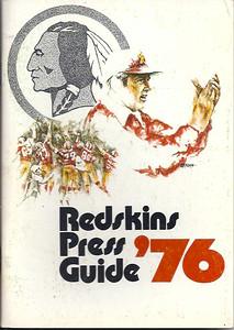 1976 Redskins Press Guide